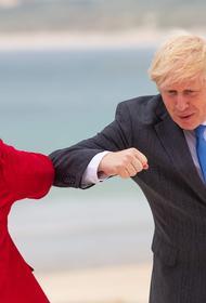 Джонсон и Меркель обсудили деятельность РФ и КНР в ходе саммита G7 в Корнуолле