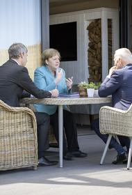 Канцлер ФРГ Меркель на полях саммита G7 обсудила с президентом США «Северный поток — 2»