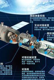 Состоялась стыковка китайского космического корабля и первой орбитальной станции КНР