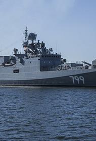 Фрегат «Адмирал Макаров» провел комплексные военные учения в Средиземном море