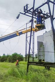 Энергетики восстановили энергоснабжение населенных пунктов на юго-западе Кубани