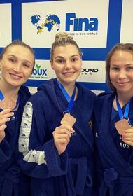 Южноуральские спортсменки стали бронзовыми призерами мировой ватерпольной лиги