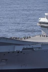 Daily Express: к плывущему британскому авианосцу HMS Queen Elizabeth постоянно приближаются на бреющем полете истребители России