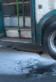 В Хабаровском крае на маршруте загорелся рейсовый автобус