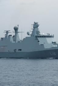 Датские военные корабли ведут наблюдение за ходом строительства нитки «А» «Северного потока 2»