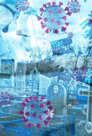 Директор кладбища снял рекламу вакцинации от коронавируса на месте новых захоронений