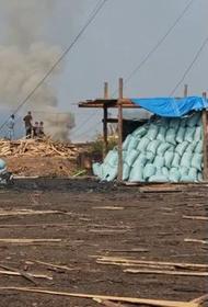 В Иркутске местные бизнесмены незаконно сжигают мусор пользуясь задымлением от пожаров