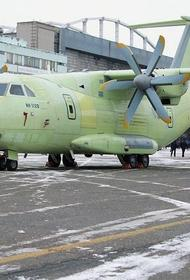 В районе подмосковной Кубинки разбился опытный военно-транспортный самолет