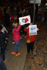 Протесты в Латвии: Мы-едины! Президент, выходи! Требуем отставки премьера Кариньша