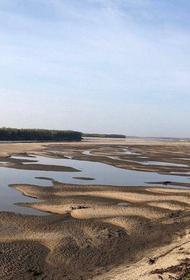 Из-за сильнейшей засухи в Якутии обмелели судоходные реки