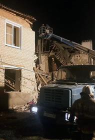 Существует угроза обрушения жилого дома в Липецкой области, где произошел взрыв газа