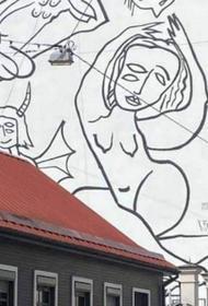 Рига: против автора мурала на стене школы возбуждено уголовное дело