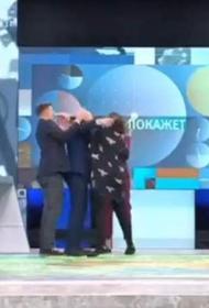 Украинский адвокат Монтян ударила по лицу польского политолога Корейба за провокацию в прямом эфире