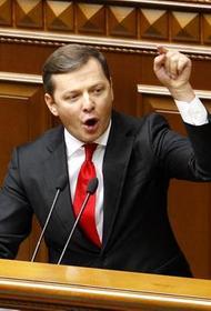 Депутат Рады Ляшко предложил вместо Разумкова на пост спикера обезьяну с гранатой