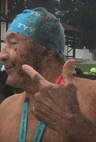 Участники массового заплыва в Кабардинке попали в нефтяное пятно в море