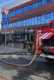 Район Хабаровска остался без света из-за пожара в супермаркете