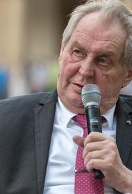 В Чехии сенаторы предложили начать процедуру лишения Милоша Земана полномочий президента