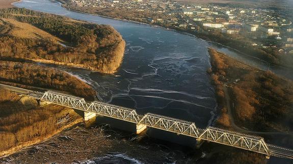 Сахалин свяжут с материковой Россией железнодорожным мостом