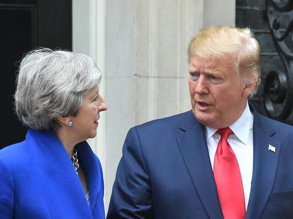 Дональд Трамп встретился с Терезой Мэй