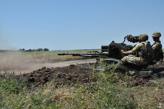 Видео атаки по опорному пункту ополченцев Донбасса опубликовал «Штирлиц» из ВСУ