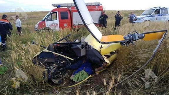 Возле подмосковного Солнечногорска упал вертолёт Robinson, в авиакатастрофе погиб президент Федерации сверхлёгкой авиации