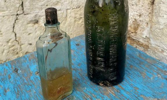 На территории крепости «Керчь» обнаружили стеклянный пузырек с шампунем 30-х годов прошлого века