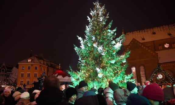 В столицу Латвии пришел Дух Рождества!