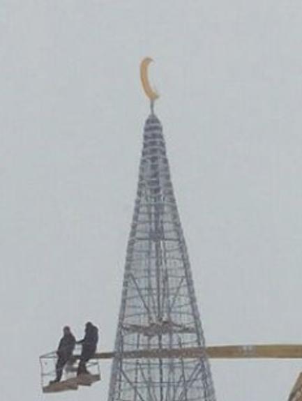 Елку в Татарстане увенчали снежинкой, а не мусульманским полумесяцем