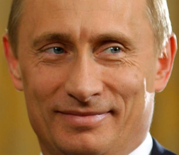 Владимир Путин нарисовал на песке смешного человечка (ФОТО)