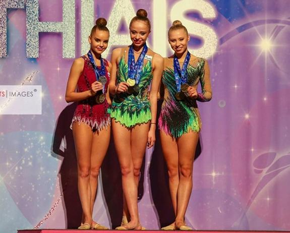 Российские гимнастки заняли весь пьедестал почета этапа Гран-при в Испании