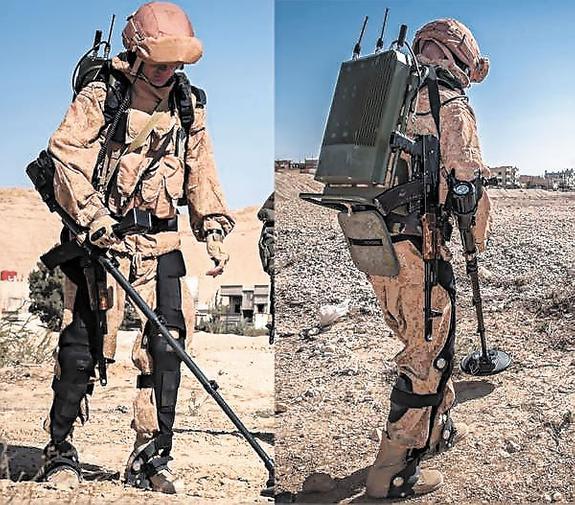 В Пальмире впервые применены  боевые экзоскелеты