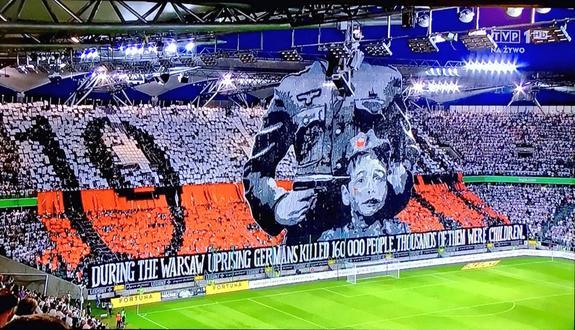 Польские фанаты напомнили об убийстве немцами тысяч людей в 1944 году