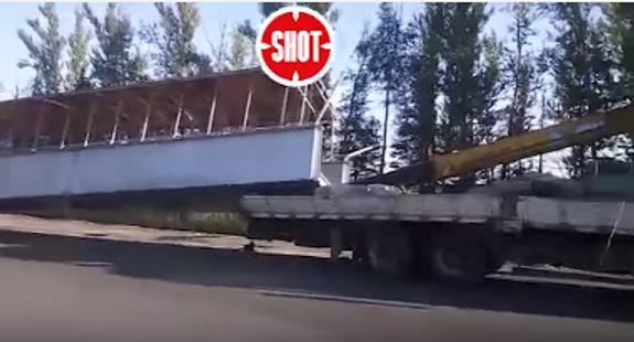 Появилось видео с места обрушения моста на трассе М7 (ВИДЕО)