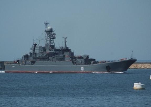 Большой десантный корабль ЧФ РФ «Азов» впервые пройдет под аркой Крымского моста