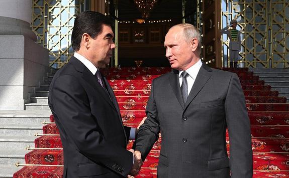 Путин стал первым обладателем нового государственного ордена Туркменистана