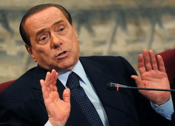 Берлускони подарил Путину на день рождения пододеяльник ручной работы
