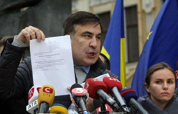 Саакашвили обвинил хакеров СБУ в блокировке его Facebook