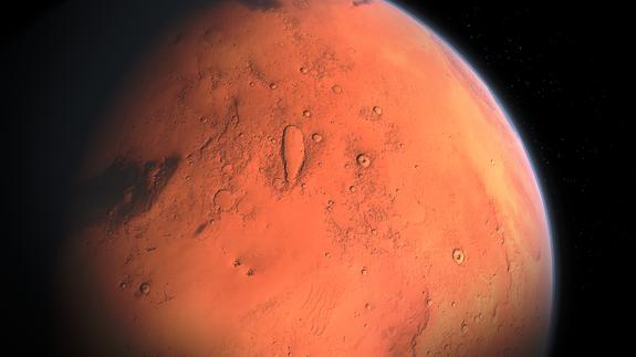 Уфологи нашли на Марсе объект, похожий на двухкилометровый корабль инопланетян