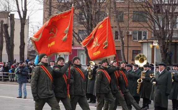Красное знамя над Кривым Рогом