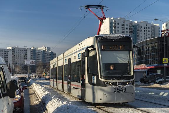 Движение трамваев остановлено на востоке Москвы