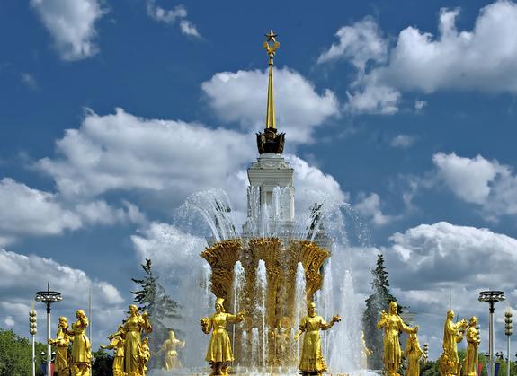 Золотая звезда на Центральном павильоне ВДНХ полностью отреставрирована