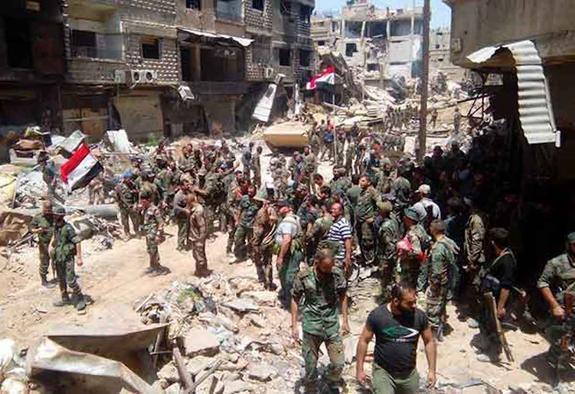 Ярмук пал– Дамаск полностью освобождён оттеррористов