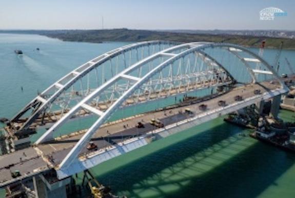 Космонавт  Шкаплеров показал последнюю фотографию  из космоса Крымского моста