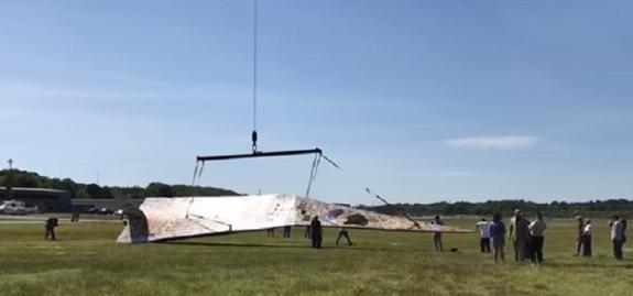 Оригами по-американски: запущен самый большой в мире самолет из бумаги