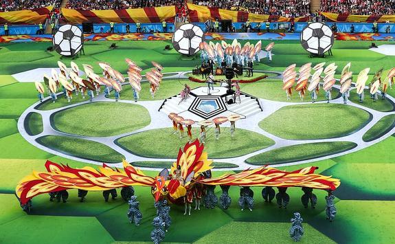 Путин принял участие в церемонии открытия ЧМ по футболу в «Лужниках»