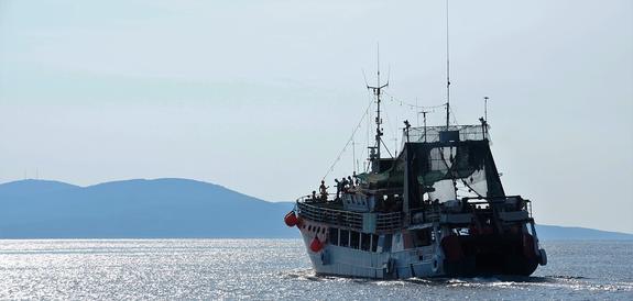 У берегов Дании арестовано российское судно