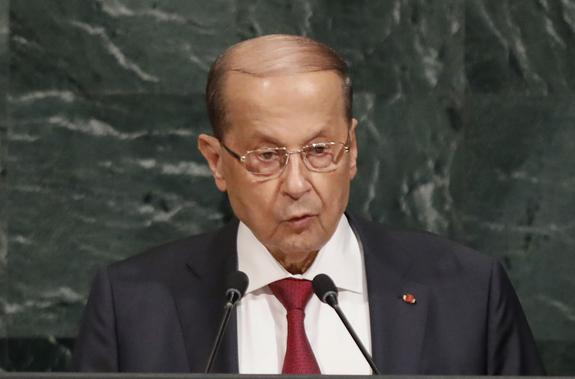 Глава Ливана обвинил Израиль в намерении расколоть Ближний Восток