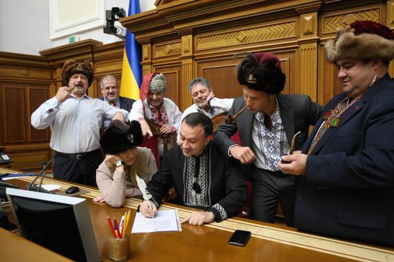 Депутаты Верховной рады написали письмо Путину в стиле запорожцев