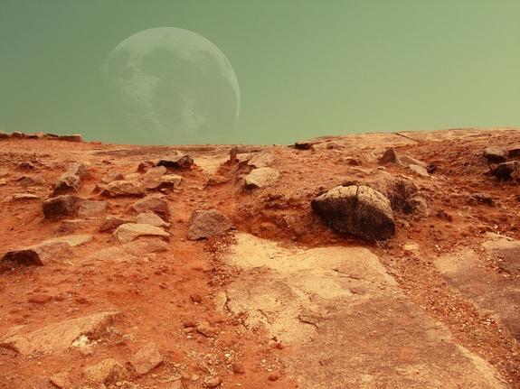 На Марсе обнаружен неизвестный блестящий объект