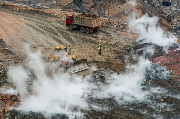 В Коркинском разрезе уменьшилось число источников горения